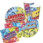 Party-Set-Basic f.12 Gäste Bday Blocks