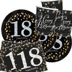 Party-Set-Basic f.16 Gäste Bday Sparkling 18