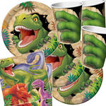NEU Party-Set-Jungen f.16 G�ste Dinosaurier-Alarm