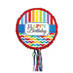 NEU Pinata Happy Birthday kreisf�rmig, bunt