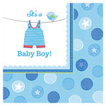 Servietten Shower Baby Boy, 33x33 cm, 16 Stk.