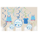 NEU Girlanden-Set Shower Baby Boy, 12 Stk.