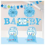 Deko-Set Shower Baby Boy, 10-teilig