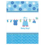 Tischdecke Shower Baby Boy, 138 x 259 cm