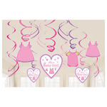 NEU Girlanden-Set Shower Baby Girl, 12 Stk.