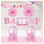 Deko-Set Shower Baby Girl, 10-teilig