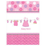 Tischdecke Shower Baby Girl, 138 x 259 cm