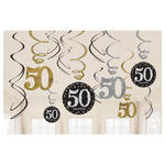 NEU Girlanden-Set Happy Bday Sparkling 50, 12 Stk.