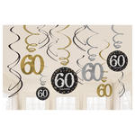 Girlanden-Set Happy Bday Sparkling 60, 12 Stk.