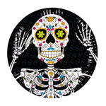 Teller Day of the Dead, 6 Stk., Ø 23 cm
