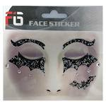 Face-Sticker Klebetattoo Fledermaus