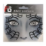 Face-Sticker Klebetattoo Spinne schwarz