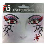 SALE  Face-Sticker Klebetattoo Spinne rot