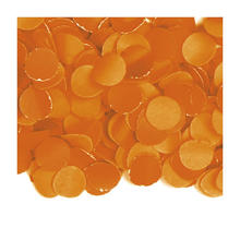 Konfetti orange aus Papier, 100 g