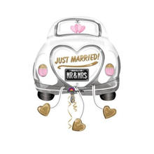 Folienballon Just Married Auto, 58x79 cm