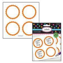 Sticker Candy rund, orange, Ø 5,1 cm, 20 Stk.