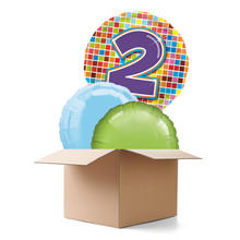 Ballongr�sse Happy Birthday, Blocks 2th, 3 Ballons
