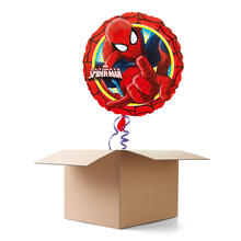 Ballongr�sse Happy Birthday, Spider Man, 1 Ballon