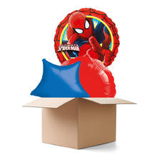 Ballongr�sse Happy Birthday, Spider Man, 3 Ballons