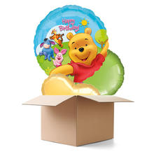 Ballongr�sse Happy B.day Winnie the Pooh 3 Ballons