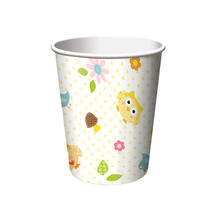 Becher Eulenparty, 256 ml, 8 St�ck