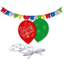 Luftballon-Deko-Set Happy-Birthday