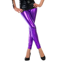 Leggings Folie, metallic-lila, Gr. L-XL
