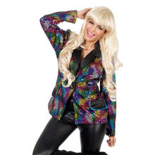 SALE Damen-Jacke Rainbow Disco, bunt, Gr. 34-36