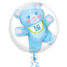 Folienballon Teddy Boy, 3D Bubble, 60 cm