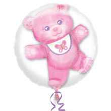 NEU Folienballon Teddy Girl 3D Bubble, 60 cm