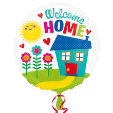 Folienballon Welcome Home, 45cm