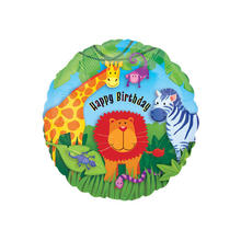 Folienballon Wild Kingdom Birthday, ca. 45 cm