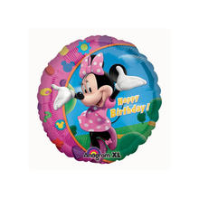 Folienballon Minnie Happy Birthday ca. 45cm
