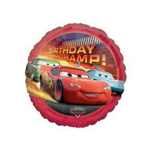 Folienballon Cars Birthday Champ, ca. 45cm