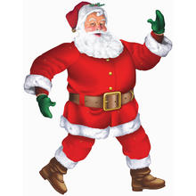 SALE Cut-Out Classic Santa, 1 m
