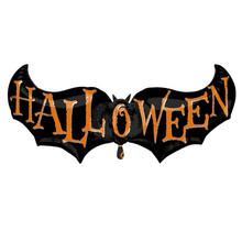 SALE Folienballon Halloween Fledermaus, 104x46 cm