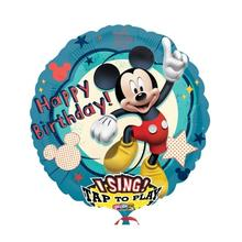 Folienballon Sing A Tune Mickey Birthday 71 cm