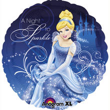 Folienballon Cinderella Night To Sparkle 45 cm