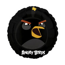 SALE Folienballon Angry Birds Black Bird, 45 cm