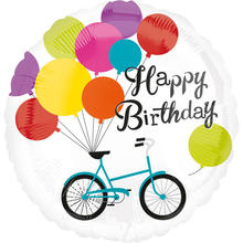 Folienballon Happy B.day Bike Balloons, 81 cm