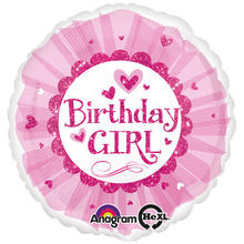 SALE Folienballon B.day Girl  Sparkle Tutu 45cm