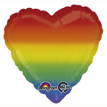 SALE Folienballon Rainbow Love Heart, 45 cm