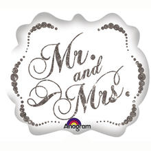 Folienballon Sparkling Mr. & Mrs. 63x55 cm