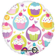 Folienballon Cupcake Party, 45 cm