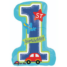 Folienballon All Aboard 1 Birthday Boy 48x71cm