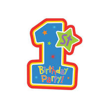 SALE Einladung Patchwork 1st Birthday Boy, 8 Stk