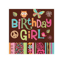 SALE Servietten Hippie Birthday Girl,  16 Stk.