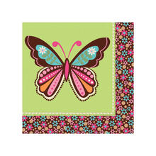 SALE Servietten Hippie-Party Butterfly, 16 Stk.