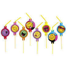 Trinkhalme Smiley Express Yourself, 8 St�ck