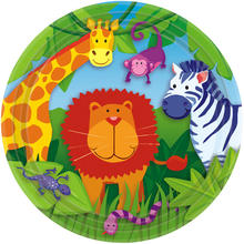 Teller Jungle Animals, 23 cm, 8 Stk.